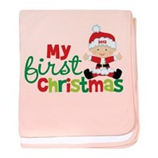 Baby Santa Babies First Christmas baby blanket