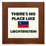 There Is No Place Like Liechtenstein Framed Tile