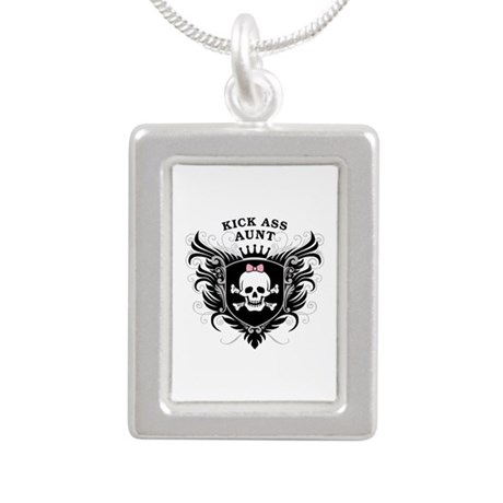 Kick Ass Aunt Silver Portrait Necklace