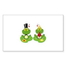 cute bride and groom froggy frog couple Decal