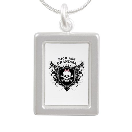 Kick Ass Grandma Silver Portrait Necklace