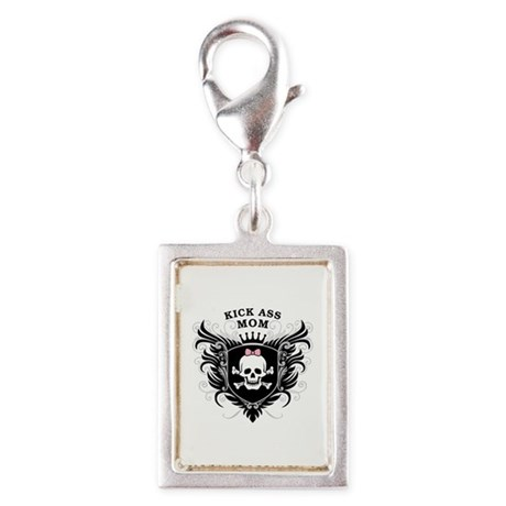 Kick Ass Mom Silver Portrait Charm