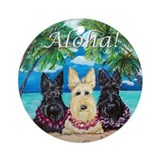 Scottish Terrier Aloha Paradise! Ornament (Round)
