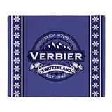 Verbier Midnight Throw Blanket