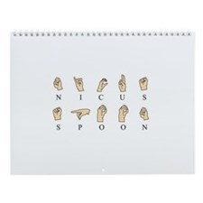 Cute Spoons Wall Calendar