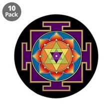 "Sri Ganesha Yantra 3.5"" Button (10 pack)"