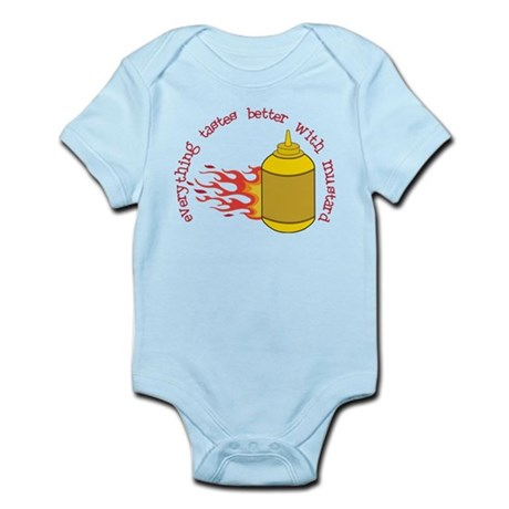 Better With Mustard Infant Bodysuit
