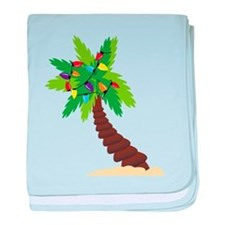 Christmas Palm Tree baby blanket