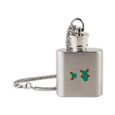 Water Molecules Flask Necklace