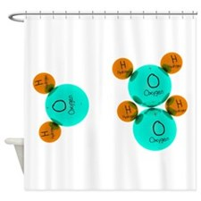 Water Molecules Shower Curtain