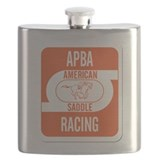 APBA Saddle Racing Card Flask