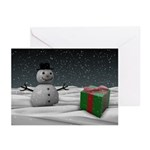 Snowman and Present Cards (Pk of 10)