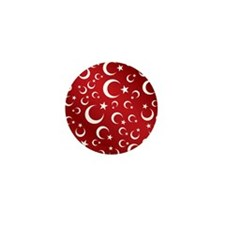 Turkish Flag Red Picture Frame Mini Button