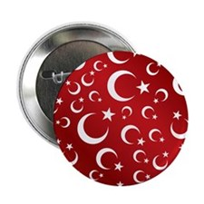 "Turkish Flag Red Picture Frame 2.25"" Button"