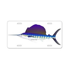 Sailfish fish Aluminum License Plate
