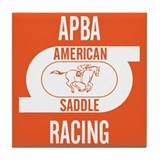 APBA Saddle Racing Card Tile Coaster