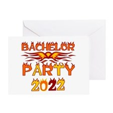 Flames Bachelor Party 2013 Greeting Card
