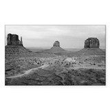 Monument Valley Black and White Decal