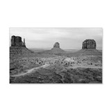 Monument Valley Black and White Wall Decal