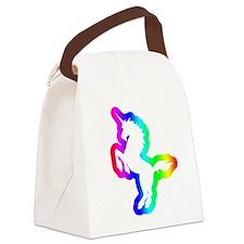 Disco Unicorn Canvas Lunch Bag