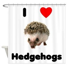 I love hedgehogs Shower Curtain