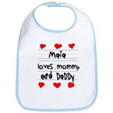 Maia Loves Mommy and Daddy Bib