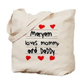 Maryam Loves Mommy and Daddy Tote Bag