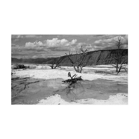 Mammoth Terrace Yellowstone 35x21 Wall Decal