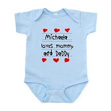 Michaela Loves Mommy and Daddy Infant Bodysuit