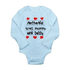 Nathaniel Loves Mommy and Daddy Long Sleeve Infant