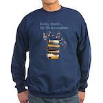 Books and music Sweatshirt (dark)