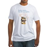 Books and music Fitted T-Shirt