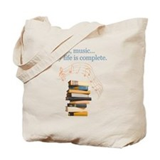 Books and music Tote Bag