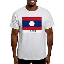 Flag of Laos Ash Grey T-Shirt