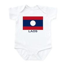 Flag of Laos Infant Bodysuit