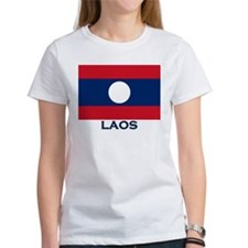 Laos Flag Gear Tee