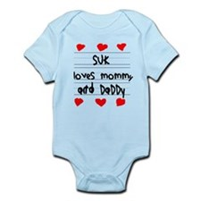 Suk Loves Mommy and Daddy Infant Bodysuit