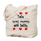 Talia Loves Mommy and Daddy Tote Bag