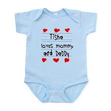 Tisha Loves Mommy and Daddy Infant Bodysuit