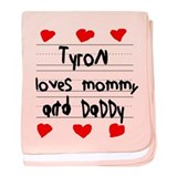 Tyron Loves Mommy and Daddy baby blanket