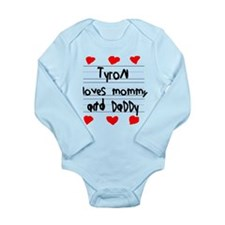 Tyron Loves Mommy and Daddy Onesie Romper Suit