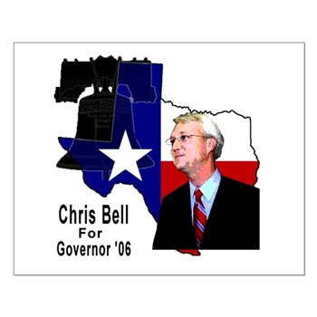 ChrisBell, TX GOV Small Poster