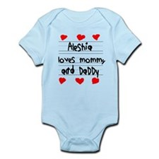 Aleshia Loves Mommy and Daddy Infant Bodysuit