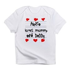 Alexia Loves Mommy and Daddy Infant T-Shirt