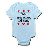 Alina Loves Mommy and Daddy Infant Bodysuit