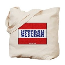 Veteran Flag Banner Tote Bag