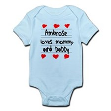 Ambrose Loves Mommy and Daddy Infant Bodysuit