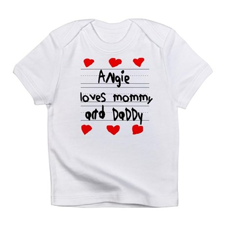 Angie Loves Mommy and Daddy Infant T-Shirt