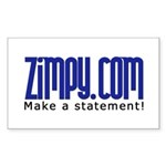 Zimpy Gear Rectangle Sticker