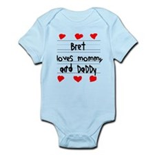 Bret Loves Mommy and Daddy Onesie